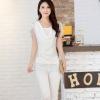 เสื้อผู้หญิง เสื้อแฟชั่น สีขาว ผ้าชีฟอง ดีไซน์ ระบาย 2 ชั้น แขนสั้นพริ้ว เสื้อสีขาว แบบเรียบร้อย ดูดี มีระดับ ใส่เที่ยว ใส่ทำงาน ออกงาน 877906_1