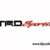 สติ๊กเกอร์ Trd sport พื้นเทาสะท้อนแสง