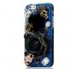 เคส iphone 6 เคส Diy แนว Hard core ฮาร์ดร็อค คริสตัล สีน้ำเงิน ติดดอกกุหลาบ อันใหญ่สีดำ เคส ธีม โจรสลัด สวยแปลก 403938_4
