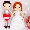 """ตุ๊กตาถัก คนแต่งงาน 17"""" (2)"""