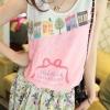 เสื้อแฟชั่นผู้หญิง แขนกุด ผ้าชีฟอง สีชมพู ลายการ์ตูนเกาหลี no 53255_3