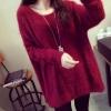 เสื้อกันหนาว เสื้อคลุม แขนยาว แบบสวม ดีไซน์ เป็น ขน สีแดง สีดำ เสื้อกันหนาว ตัวยาว แบบเดรส ไฮโซ ใส่เที่ยวกลางคืน สวย ๆ 91397