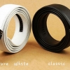 เข็มขัด หนังแท้ เข็มขัด ใส่ทำงาน สีดำ สีขาว ดีไซน์ แบบเรียบ เข็มขัดใส่กับ กางเกง สแล็ค สวยหรู คลาสสิค ของขวัญให้แฟน สุดเก๋ 625349