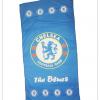 ผ้าเช็ดตัว Chelsea ผ้าขนหนู ผืนใหญ่ ตราวงกลมตรง สีฟ้า 5 ฟุต เนื้อนุ่ม นาโน c012