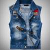 เสื้อแจ็คเก็ตยีนส์ แขนกุด สำหรับ หนุ่มสาว นักซิ่ง Jacket ยีนส์ สำหรับนักเดินทาง สัญชาติ อเมริกัน usarmy เสื้อยีนส์เท่ ๆ 44116
