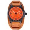 นาฬิกาข้อมือ ผู้ชาย ผู้หญิง ใส่ได้ นาฬิกา สายหนังแท้ นาฬิกาวัยรุ่น สัญชาติ ญี่ปุ่น ดีไซน์ เท่ โฉบเฉี่ยว สีส้ม สีดำ สีขาว นาฬิกาข้อมือ สไตล์วินเทจ เท่มาก 628226