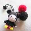 ที่ห้อยกระเป๋า พวงกุญแจตุ๊กตาคิตตี้มิกกี้เม้าส์ ปอมปอม dolls pom pom amigurumi crochet keychain