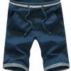 กางเกงขาสั้นผู้ชาย กางเกงขาสามส่วน กางเกงแฟชั่น สีน้ำเงิน เอวยางยืด แบบใหญ่ ใส่สบาย ใส่เที่ยว ใส่ไปทะเล ใส่อยู่บ้าน กางเกงวัยรุ่น 641470