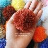 ปอมปอมไหมพรม ขนาด 3.5 ซม. แบบไม่แปรง pompom size 3.5 cm