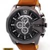 นาฬิกาข้อมือ ผู้ชาย สายหนัง แนวสปอร์ต หน้าปัดใหญ่ ดีไซน์ เป็นตัวหนีบ นาฬิกาข้อมือของขวัญ ให้แฟน แบบ เท่ ๆ มีสไตล์ 492098