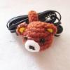 ที่เก็บสายหูฟัง/สายรัดเข็มขัดถักโครเชต์ earbud cord wrap crochet