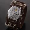 นาฬิกาข้อมือ แฟชั่นหัวกะโหลก วันฮาโลวีน สายหนังแท้ สีน้ำตาล นาฬิกาสไตล์พังค์ ร็อค ลดราคา no 577936_1