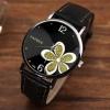 นาฬิกาข้อมือ ผู้หญิง ใส่ทำงาน ออกงาน นาฬิกาข้อมือ สายหนัง หน้าปัด ลายดอกไม้ แฟชั่นเก๋ ๆ 802942