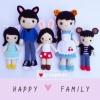 ตุ๊กตาถัก ชุดครอบครัว