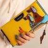 กระเป๋าสตางค์ผู้หญิง กระเป๋าสตางค์ใบยาว ดีไซน์ใหม่ แต่งโลโก้ ลายสุนัข 2 ตัว ลอยจากกระเป๋า มีช่องใส่บัตรเพิ่มถอดเข้าออกได้ สีเหลือง 560339_10