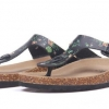 รองเท้าแฟชั่น ผู้หญิง ผู้ชาย รองเท้าแตะ หูคีบ แฟชั่นดีไซน์ นวัตกรรมใหม่ พืั้นบน จากไม้ค๊อก ลายหลาย ลายสี 958342