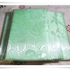 ผ้าห่มแพร ผ้าปูที่นอนแพร 6 ฟุต สีเขียวอ่อน