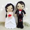 """ตุ๊กตาถัก คนแต่งงาน 12"""" (3)"""