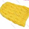 แฟชั่นหมวกไหมพรม งาน Hand Made สไตล์เกาหลี สีเหลือง