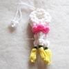 พวงมาลัยดอกจำปีถักแขวนหน้ารถ / แขวนกระจกรถ ถักโครเชต์ thai garland crochet hanging