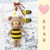 """ตุ๊กตาถัก หมีผึ้ง 6"""" + ผึ้งน้อย"""