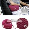 Travel Pillow U-shaped neck pillow - หมอนโฟมรองคอ หนุนเอว พกพาสำหรับขับรถ พกพาเดินทางบนเครื่องบิน - สีชมพู