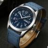 นาฬิกาข้อมือ ผู้ชาย นาฬิกาสายหนัง ผสมผสาน ลายผ้ายีนส์ ได้อย่างลงตัว นาฬิกาแบบมีระบบวัน และ วันที่ 655469