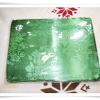 ผ้าแพร 6 ฟุต สีเขียวแก่ลายดอกกุหลาบเล็ก P107