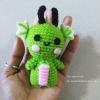 มังกรเขียว ขนาด 4 นิ้ว green dragon amigurumi crochet 4 inches