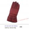 ถุงมือกันหนาวผ้า หญิง สีแดง