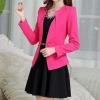 เสื้อสูท เสื้อแจ็คเก็ต เสื้อคลุม แบบสูท สูทผู้หญิง แขนยาว สีชมพูเข้ม กุหลาบ สูท ใส่ทำงาน เสื้อ jacket ผู้หญิง แบบสูท มีดีไซน์ 708280_2