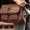 กระเป๋าผ้าแคนวาส กระเป๋าสะพายข้าง ผู้ชาย ผู้หญิง ใช้ได้ ขนาดกลาง ใส่ของกระจุกจิก กระเป๋าสตางค์ กระเป๋าเที่ยว ขนาดกำลังดี สีน้ำตาลเข้ม และ อ่อน 848499