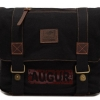กระเป๋าสะพายข้าง ผู้ชาย ผู้หญิง แบบเท่ ๆ ผ้ายีนส์ ใบใหญ่ ใส่ของได้เยอะ แบบสวย ตกแต่ง ด้วยหนังแท้ ดีไซน์ เก๋ สไตล์ วินเทจ สีดำ no 700274