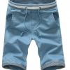 กางเกงขาสั้นผู้ชาย กางเกงขาสามส่วน กางเกงแฟชั่น สีฟ้าคราม กางเกงวัยรุ่น เท่ ๆ เอวยางยืด ใส่สบาย ใส่เที่ยว ใส่อยู่บ้าน ผ้า Cotton แบบสวย มีสไตล์ 641470_3