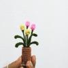ดอกทิวลิปจิ๋วถักโครเชต์ Mini Tulip flowers crochet