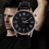 นาฬิกาข้อมือผู้ชาย สายหนัง ดีไซน์ ยุโรป แบบคลาสสิค หน้าปัดสีดำ สายสีดำ นาฬิกาเท่ ๆ สำหรับผู้ชาย คลาสสิค 545915