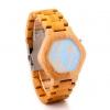 นาฬิกาข้อมือ ผู้ชาย ผู้หญิง ใส่ได้ นาฬิกา งานไม้ งานแฮนด์เมด ทำจากไม้ไผ่ หน้าจอแสดงผล แบบ Led ของขวัญให้แฟน เก๋ ๆ มีสไตล์ 284780