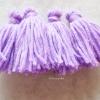 พู่สีม่วงอ่อนโครเชต์ ไหมพรม 4 ply tassel crochet acrylic yarn 4 ply