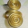 (ขายแล้วค่ะ) C005 แหวนรูปก้นหอย ทองเหลือง100%