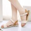 รองเท้าส้นแบน รองเท้าแฟชั่น ผู้หญิง รองเท้าแตะ ส้นเตี้ย แบบมีสายรัดส้น สีครีม รองเท้าแบบเปิดหน้าเท้า โชว์เท้า สวย ๆ 780853