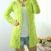 เสื้อไหมพรมถัก ตัวยาว แขนยาว สามารถใส่เป็น ชุดคลุมใน office ได้ สวยเก๋ ชุดคลุม แบบไฮโซ เสื้อกันหนาว สีเขียว no 562327_2