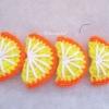 ส้มถักโครเชต์ orange fruit crochet