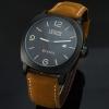 นาฬิกาข้อมือ ผู้ชาย สายหนังแท้ สีน้ำตาล กรอบหน้าปัด สีดำ และ สีทอง นาฬิกาสายหนังแท้ แนว sport curren มีระบบวันที่ ของขวัญให้แฟน เท่ ๆ 469663