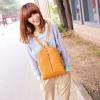 กระเป๋าเป้ กระเป๋าสะพายหลัง ผู้หญิง เดินทางต่างประเทศ ในประเทศ สไตล์ ญี่ปุ่น หนัง Pu กันน้ำสีสวย สีน้ำตาล ดำ เบจ ขนาดกำลังดี 626469