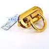 ตัวล็อกฝากระเป๋า แบบสอดกลมหักหัว สีทอง