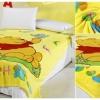 ผ้าห่มกำมะหยี่ เนื้อนุ่ม Pooh สีเหลือง