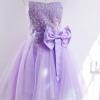 มินิเดรสเกาะอก ชุดแต่งงาน ออกงาน สีม่วง แชมเปญ หวานมากค่ะ ปักเลี่ยม มีโบว์คาดเอว no 76520_2