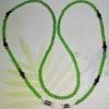 (ขายแล้วค่ะ) M010 สายคล้องแว่นตา คริสตัลโมดาร์ (เขียวสลับสีปีกแมงทับ)