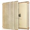 เปิดตัว Smart case สุดหรู เคสแม่เหล็ก Auto Wake Up Sleep Apple iPad 2 3 4 สีทอง บลัชออน ด้านหลังเป็น เคสใส โชว์เครื่อง 246819