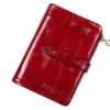 กระเป๋าสตางค์ผู้หญิง ใบสั้น กระเป๋าสตางค์ หนังวัวแท้ ลง Oil wax ใช้ยิ่งนาน ยิ่งสวย มีช่องใส่บัตร มีช่องใส่เหรียญ สีแดงเข้ม สีร้อนแรง 764078_8